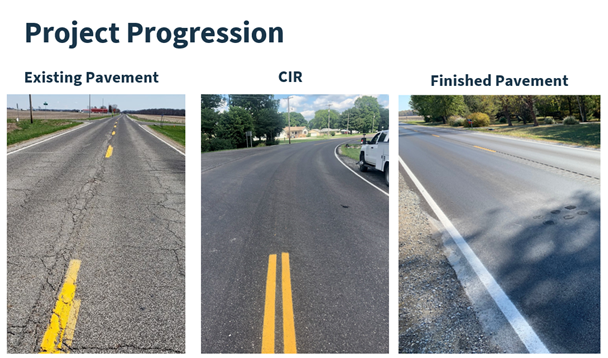 asphalt project progression